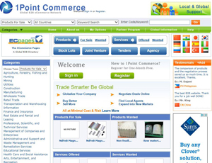 1commerce.com - Online Global b2b Marketplace eCommerce Network
