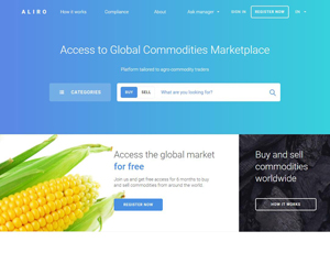 Aliro.trade - B2B Marketplace for agricultural commodities