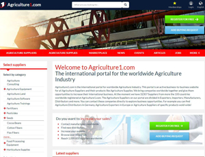 Agriculture1.com - B2B website for all Agriculture Suppliers and products