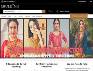 Ebulking.com - B2B Indian Textiles Wholesale Marketplace