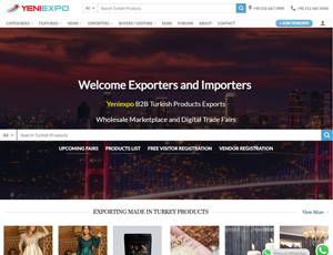 Yeniexpo.com - B2B Turkey Products Exports Wholesale Marketplace