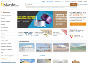 Okorder.com - Materials & Equipment from Leading Supplier in China