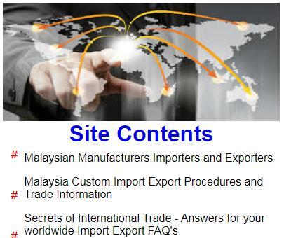 Malaysiaexports.com - Malaysian Import Export Trade