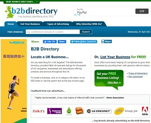 B2B Directory UK - Free Business Listings from the B2B Directory