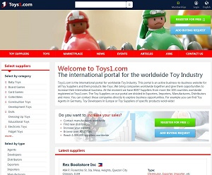 Toys1.com - Business-to-Business portal for Toy Industry