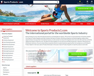 Sportsproducts1.com - B2B Portal for Sports Products Industry
