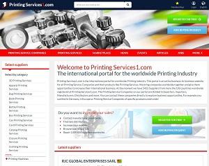 PrintingServices1.com - International b2b portal for Printing Industry