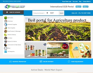 Worldmartexport.com - B2B Portal for International And Domestic Business