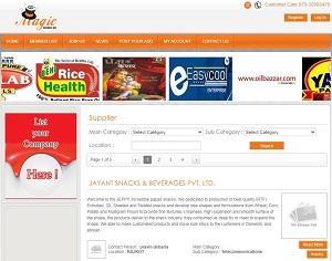 Magicbaba.in - India online edible B2B marketplace