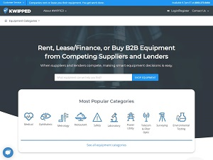 Kwipped.com - B2B equipment rental and leasing marketplace