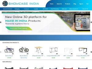 Showcaseindia.in - 3D interactive b2b platform for made in India