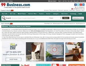 99business.com - B2B Marketplace For India Manufacturers and Suppliers