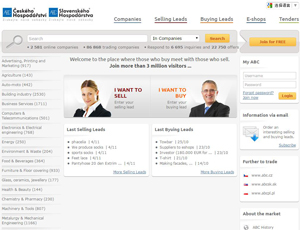 Abceu.eu - ABC Czech and Slovak Trade b2b portal