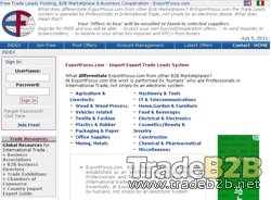 B2B.ExportFocus.com - Free Trade Leads B2B Marketplace