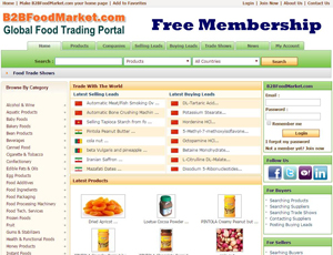 B2Bfoodmarket.com - Global Food Trading Portal and E-Marketplace