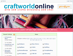 CraftworldOnline.com - Arts and Craft Directory