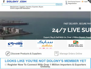 Dolony.com - Online b2b Marketplace for importers and exporters