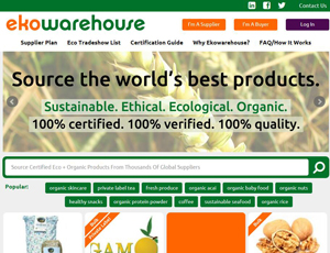 Ekowarehouse.com  - Source Certified Organic food B2B Platform