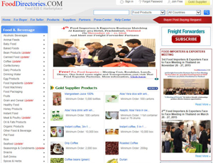 Fooddirectories.com - Food B2B E-Marketplace
