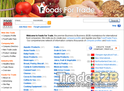 Foodsfortrade.com - Foods B2B Marketplace and Trade Portal