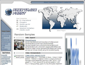 Freetradefront com - Export company list - Trade B2B Directory