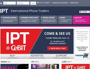 IPT.cc - B2B Mobile Phone Trading Services