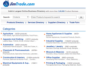 JimTrade.com - India Suppliers and Products Directory
