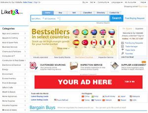 Like123.com - B2B trade leads directory for Importers and Exporters