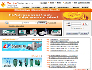 Machinecenter.com.tw - Global Machine Products and manufacturers B2B directory