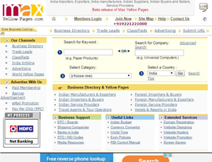 Maxyellowpages.com - India Yellow Pages