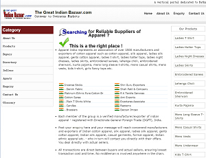 Thegreatindianbazaar.com - Indian b2b trade portal