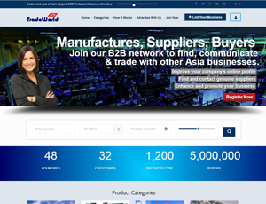 Tradeworld.asia -  Asia's Largest B2B Portal and Business Directory