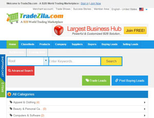 Tradezila.com - A B2B Marketplace for sellers and buyers
