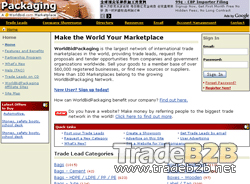 Worldbidpackaging.com - Packaging International Trade b2b Marketplace