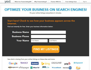 Yext.com - Optimize your business on search engines